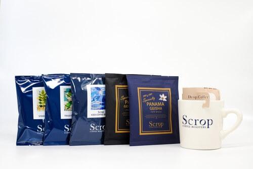 <8/6締切>Scrop COFFEE ROASTERSのドリップバッグ5種を5名様に!