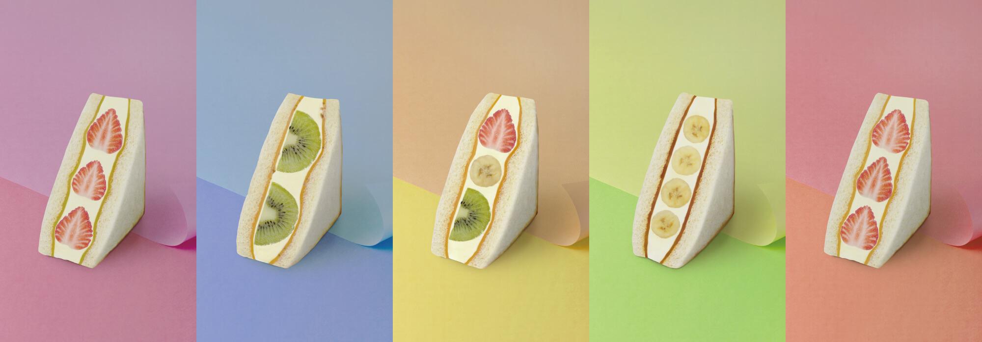 高級食パン,フルーツサンド,限定